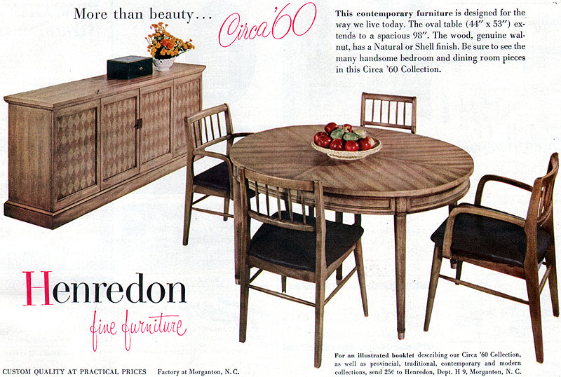henredon dining room furniture circa 60 collection buffet table 1956
