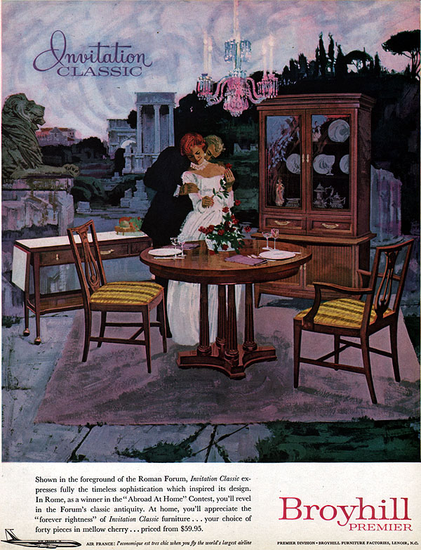 Broyhill mid century modern furniture air france saga for Broyhill american era bedroom furniture