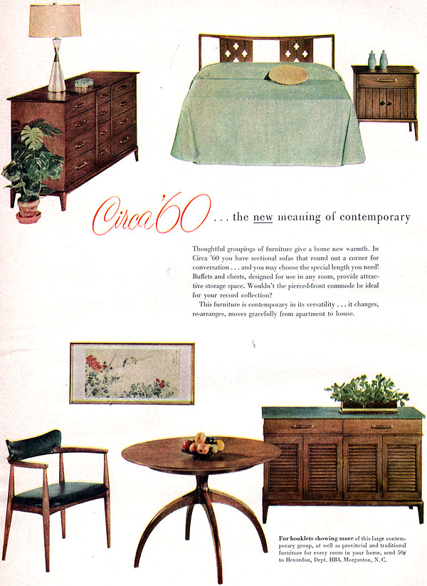 henredon circa 60 furniture mid century modern dining room 5 page 1958